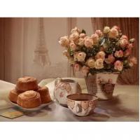 Мозаика из страз А-1902 Французский завтрак 36х46 см