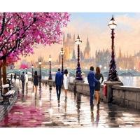 Мозаика из страз А-1897 Романтичный Лондон 36х46 см