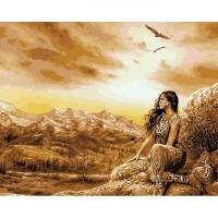 Мозаика из страз А-1325 Индианка 46х36 см