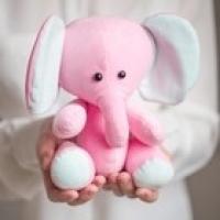 Мягкая игрушка Плюшевый слоник Лакки, набор для шитья, 18.5х22.8х2.5 см