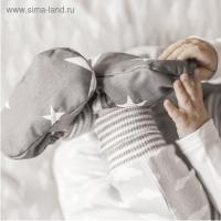 Детские пинетки Маленькое счастье, набор для шитья, 16,3х10,7х1,5 см серые