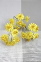 Цветы на веточке Ромашка с бусинкой SF-249, 9 см желтый 16-131