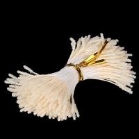 Тычинки для цветов, набор 20 шт в ассортименте (пушистые кремовые)