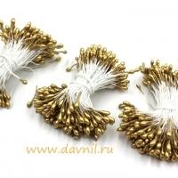 Тычинки для цветов, набор 20 шт в ассортименте (золотые средние)
