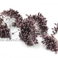 Тычинки для цветов, набор 20 шт в ассортименте (коричневые средние)
