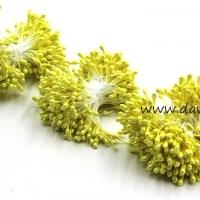 Тычинки для цветов, набор 20 шт в ассортименте (желтые средние)