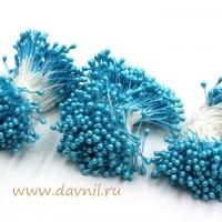 Тычинки для цветов, набор 20 шт в ассортименте (голубые средние)