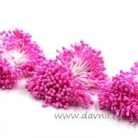 Тычинки для цветов, набор 20 шт в ассортименте (розовые средние)