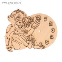 Основа для часов из фанеры Обезьянка 17х13,5 см