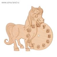 Основа для часов из фанеры Лошадка 19х18 см