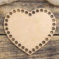 Заготовка для вязания Сердце фанера 3 мм 15 см