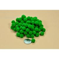 Помпоны 1 см темно-зеленый