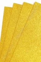 Фоамиран глиттерный 2 мм SF-1955, №013 золото